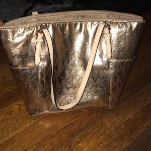 Rose gold mk bag